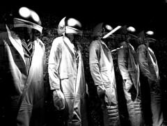 A Startling Wake Up Call (JTContinental) Tags: light shadow urban blackandwhite newyork mannequin doll five astronaut repetition spacemen challengeyouwinner jtcontinental herowinner ultraherowinner thepinnaclehof tphofweek114