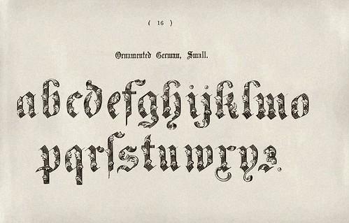 012-Alfabeto minusculas ornamentado aleman-Examples of Modern Alphabets… 1913- Freeman Delamotte