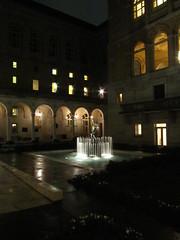 Courtyard (historygradguy (jobhunting)) Tags: sculpture water fountain statue boston architecture night ma library massachusetts newengland courtyard mass bostonpubliclibrary bostonist bpl