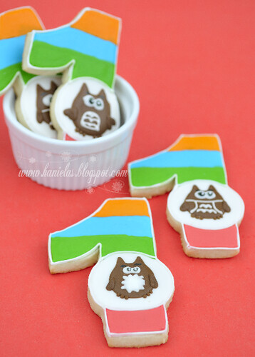 1st Birthday Owl Cookies