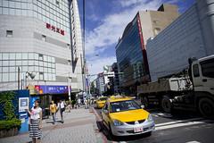台北市内。MRT中山(つぉんしゃん)駅近く