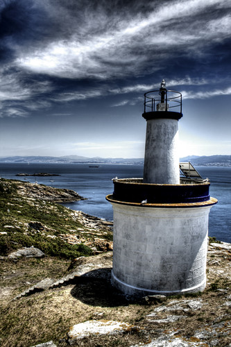 One of Cíes islands lighthouses. Galicia. Uno de los faros de las islas Cíes