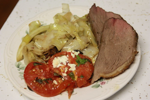 Roast Beef with Cabbage