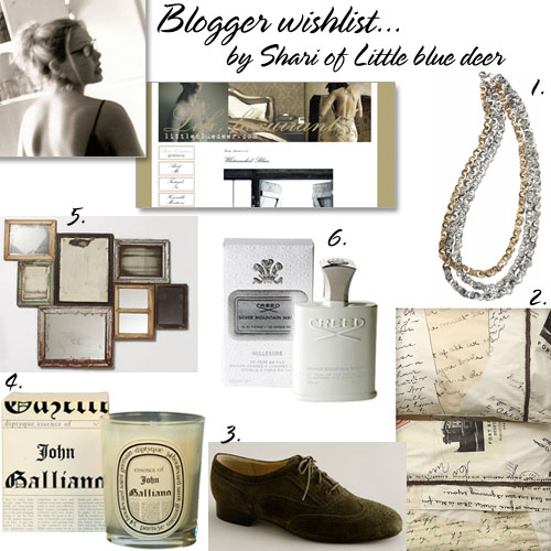 little blue deer's wishlist