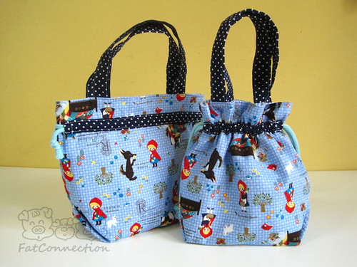 Drawstring tote bag