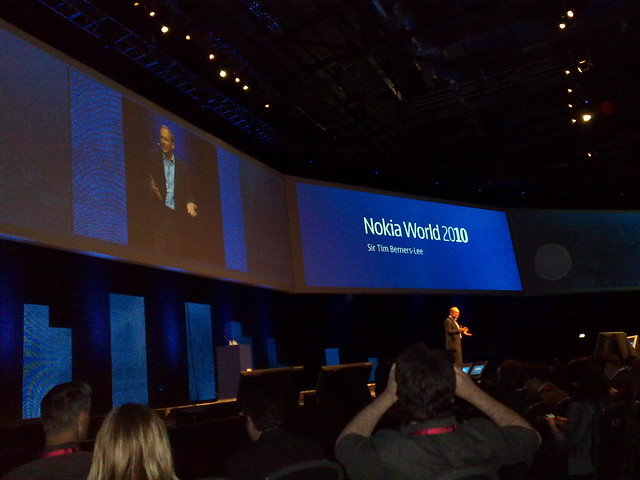 Sir Tim Berners-Lee speaking at Nokia World 2010