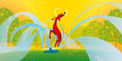 Ad campaign for Berri Juice (bentheillustrator) Tags: colour nature fruit illustration advertising landscape design artwork juice australia refreshing berri
