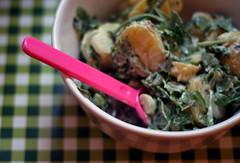 kartoffel-rucola-salat mit senf-minze-dressing