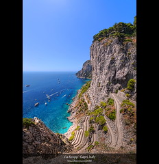Via Krupp - Capri, Italy (HDR Vertorama) (farbspiel) Tags: ocean travel sea vacation italy panorama holiday seascape colour tourism water colors sunshine photoshop landscape geotagged photography capri see nikon rocks colorful wasser colours campania view bluesky journey blended ita handheld stitching photomerge colourful landschaft stitched dri hdr highdynamicrange farben blend superwideangle niceweather 10mm postprocessing ozean dynamicrangeincrease ultrawideangle d90 photomatix digitalblending tonemapped tonemapping gulfofnaples viakrupp farbenpracht detailenhancer vertorama topazadjust topazdenoise klausherrmann topazsoftware sigma1020mmf35exdchsm augustsgarden topazphotoshopbundle geo:lat=4054706572 geo:lon=1424318969
