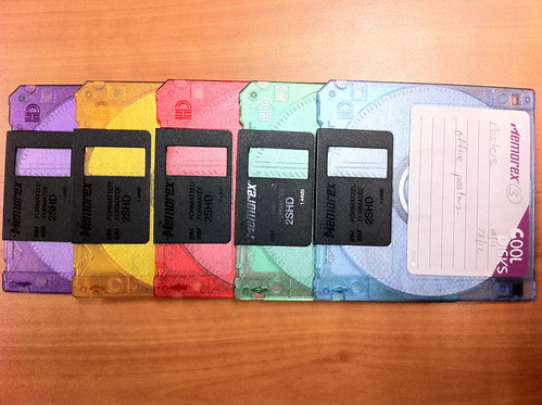 recycle floppy disks