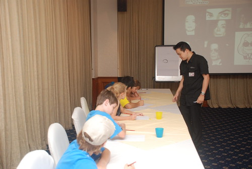 caricature workshop for The British Club - 25
