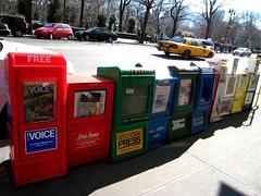 newspapers (Luana Bandeira) Tags: usa ny newyork unitedstates newspapers eua carnaval february fevereiro 2007 estadosunidos jornais