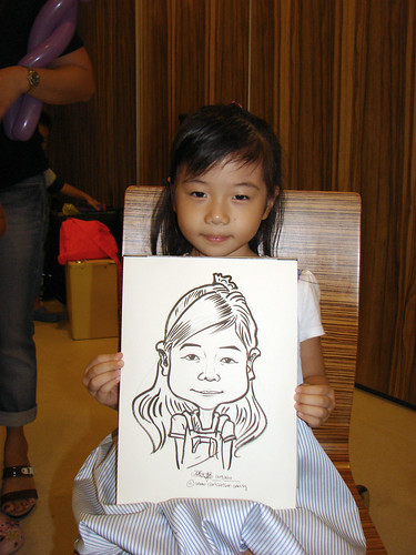 Caricature live sketching for birthday party 11092010 - 2