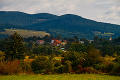 Village (Karmen Smolnikar) Tags: trees grass village hills slovenia slovenija karst palčje palcje