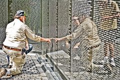 Lost Buddies (fj40troutbum) Tags: wall canon washingtondc vietnammemorial photoart rosepetal gregholland 50mmefii