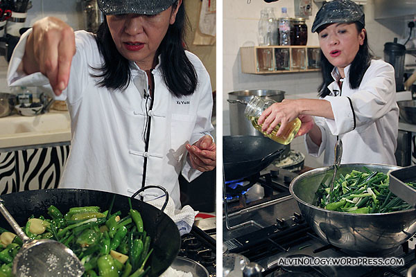 Margaret Xu cooking up a storm