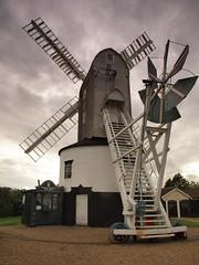P9147428 (Paul_sk) Tags: green mill windmill suffolk post saxtead