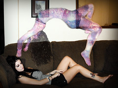 Self (AshleyZembo) Tags: girl spirit sleep space dream levitation galaxy soul float levitate astralprojection