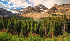 Crowfoot Glacier (Jeff Clow) Tags: travel vacation lake canada mountains tourism glacier alberta fullframe albertacanada icefieldsparkway crowfootglacier samyang gapr samyang14mmf28lens