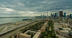 autumn's knocking (tomms) Tags: autumn toronto canada fall skyline downtown distillerydistrict cityscape esplanade lakeontario gardinerexpressway rooftopping tgamcitystreetscapes