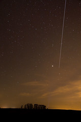 The ISS over Stonehenge (mesonparticle) Tags: stars twilight stonehenge iss internationalspacestation