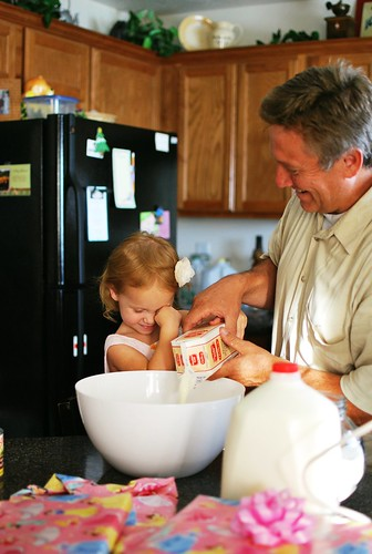 making ice cream with grandpa