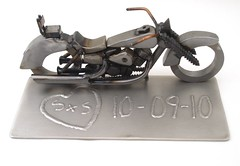 Honda Shadow Motorcycle Sculpture