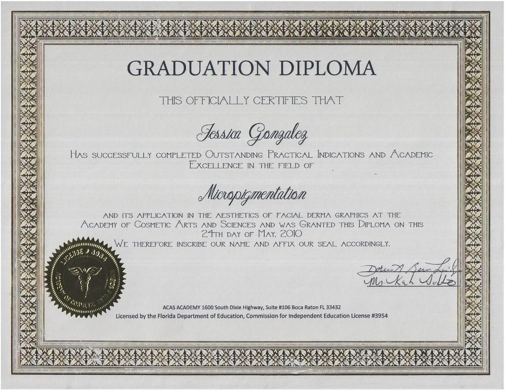 Diploma for Micropigmentation (Permanent Makeup)