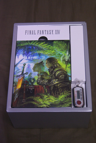 FINAL FANTASY XIV Collector's Edition DVD package and Security Token