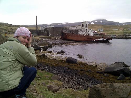 Me Admiring Djúpavík on Flickr
