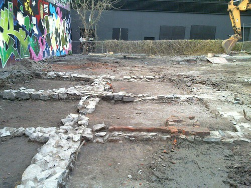 Archaeological dig at Little La Trobe Street, Melbourne