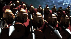 Tonight we dine in hell...! (leg0fenris) Tags: movie army lego series sparta minifig 300 collectible minifigs spartan spartans