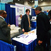 Michael Cobb, NBJC's Member Services/Donor Relations Associate greets visitors to NBJC's booth