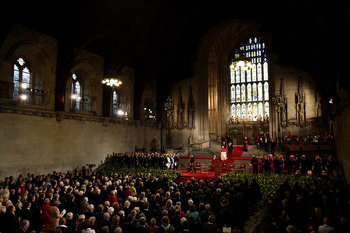 London, Pope Benedict  XVI in Westminster Hall