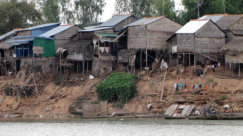 River Village Along Mekong