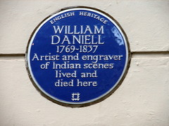 Photo of William Daniell blue plaque