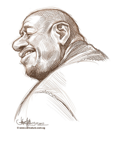 School Assignment 5 - sketch 1 of Forest Whitaker