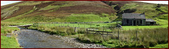Lowther Hills South lanarkshire (Ben.Allison36) Tags: uk panorama house building abandoned river landscape scotland pano ruin scenic scottish hills burn finepix shepherds elvanfoot lowther leadhills hs10 southlanarkshire hopetounestate