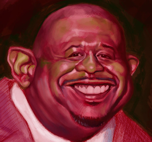 School Assignment 5 - caricature of Forest Whitaker - 2 small
