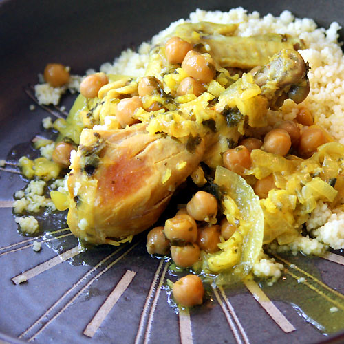 Moroccan Chicken Kdra with Saffron, Chickpeas and Rice - Project Food ...