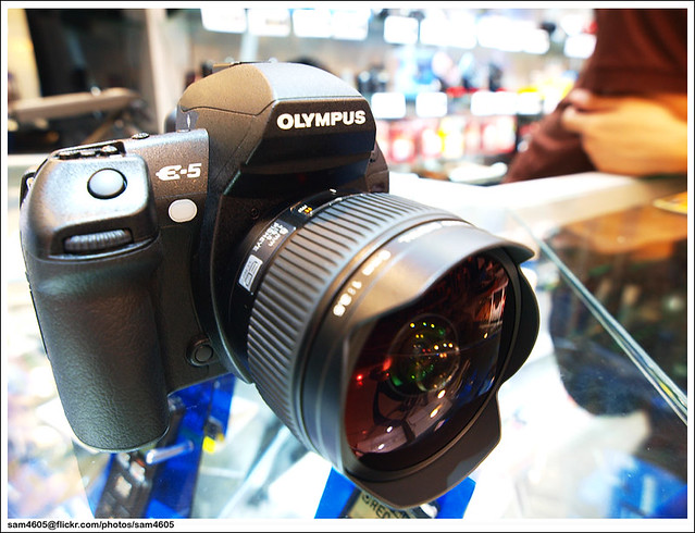 New Olympus E-5 + 8mm FE lens
