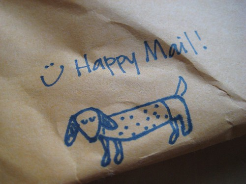 wiener dog happy mail