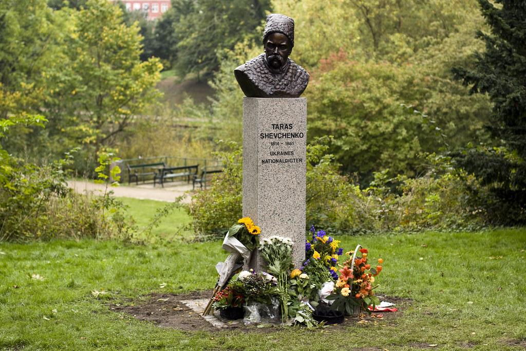 Taras Shevchenko monument in Østre Anlæg Copenhagen