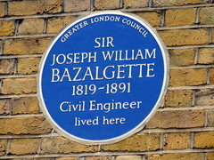 Photo of Joseph William Bazalgette blue plaque