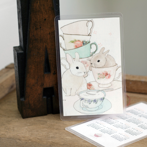 bunny pocket calendar