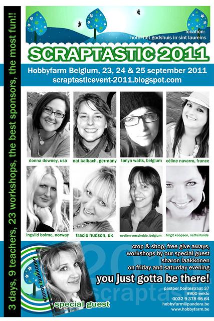 scraptastic 2011 flyer