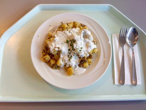 Pilzpfanne mit Lauch & Kartoffeln