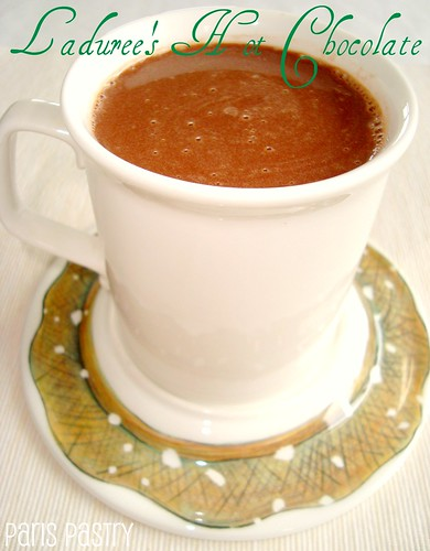 Ladurée's Hot Chocolate