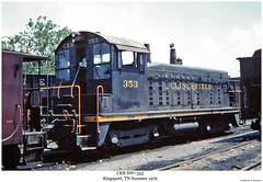 CRR SW7 353 (Robert W. Thomson) Tags: railroad train diesel tennessee railway trains sw locomotive trainengine switcher switchengine kingsport crr emd sw7 clinchfield fouraxle endcabswitcher
