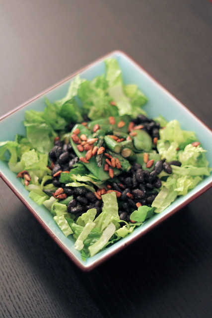 Black beans, Snap peas and Asparagus
